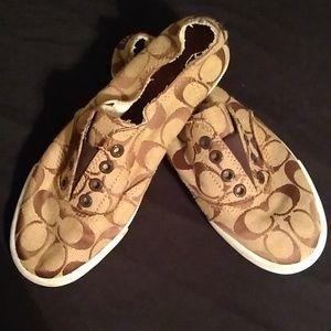 Shoes - EUC Coach Katie Slip On Tennis shoes Size 7B